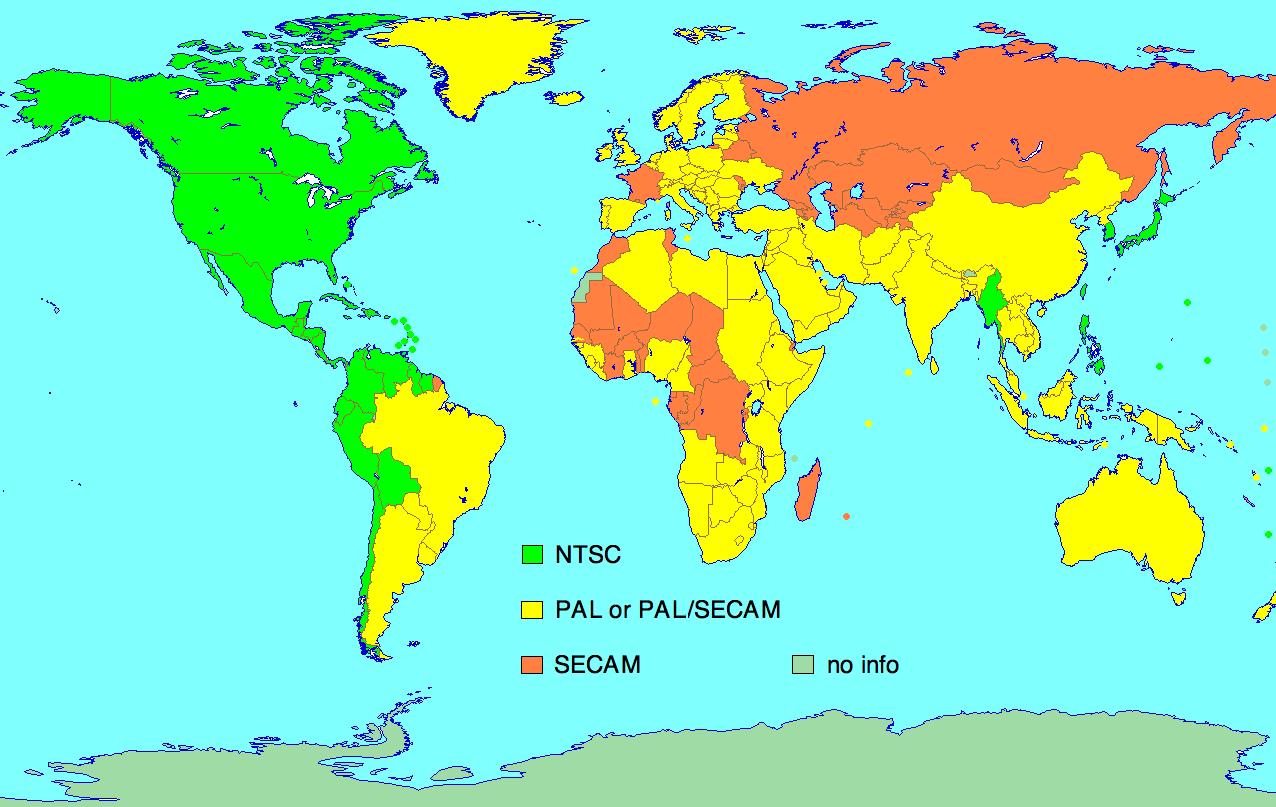 NTSC-PAL-SECAM